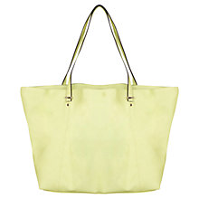 Buy Miss Selfridge Slouchy Shopper Bag, Lime Online at johnlewis.com