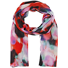 Buy French Connection Brooke Graffiti Scarf, Coral Multi Online at johnlewis.com