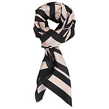 Buy French Connection Janet Striped Silk Scarf, Nude/Midori Online at johnlewis.com