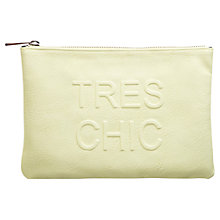 Buy Miss Selfridge Tres Chic Clutch Bag, Lime Online at johnlewis.com