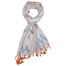 Buy French Connection Nolita Textured Scarf, Summer White Multi Online at johnlewis.com