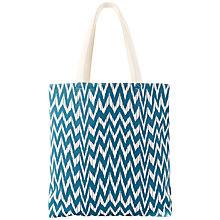 Buy Paul's Boutique Amelie Zig Zag Tote Bag, Teal Online at johnlewis.com