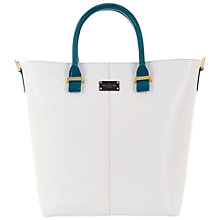 Buy Paul's Boutique Natasha Structured Tote, White/Teal Online at johnlewis.com