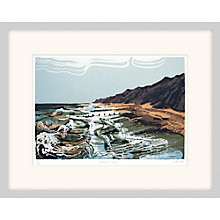 Buy Andy Lovell - Washing The Groynes Framed Print, 80 x 64cm Online at johnlewis.com