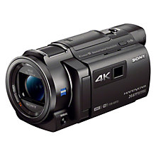 "Buy Sony FDR-AXP33 4K Handycam with Built-in Projector, 8.29 MP, 10x Optical Zoom, Wi-Fi, NFC, 3.0"" Xtra Fine LCD Screen Online at johnlewis.com"