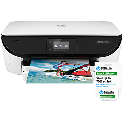 Image of HP Envy 5646 All-in-One Wireless Printer + 2 Months HP Instant Ink Pick-a-Plan