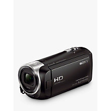 "Buy Sony CX405 Handycam with Exmor R CMOS Sensor, HD 1080p, 2.29MP, 30x Optical Zoom, 2.7"" LCD Screen, Black Online at johnlewis.com"