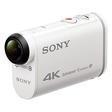 Buy Sony X100V 4K Action Cam, Camcorder, 8.8MP, Wi-Fi, NFC, GPS with Waterproof Case and Live View Remote Online at johnlewis.com
