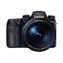 Buy Samsung NX1 Smart Camera with 50-200mm (White) & 16-50mm Lens, 4K UHD, 28.2MP, Wi-Fi, Bluetooth, NFC, OLED View Finder Online at johnlewis.com