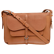 Buy Radley Grosvenor Medium Leather Cross Body Bag, Tan Online at johnlewis.com