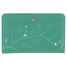 Buy Radley Laurel Leaf Medium Leather Purse, Green Online at johnlewis.com
