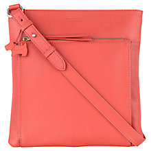 Buy Radley Richmond Large Leather Across Body Bag, Orange Online at johnlewis.com