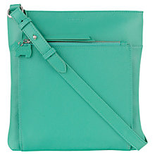 Buy Radley Richmond Large Leather Across Body Bag, Green Online at johnlewis.com