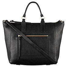 Buy Radley Berkeley Large Leather Multiway Bag, Black Online at johnlewis.com