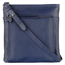 Buy Radley Richmond Large Leather Across Body Bag, Navy Online at johnlewis.com