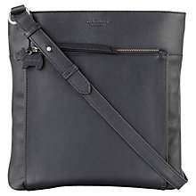 Buy Radley Richmond Large Leather Across Body Bag, Black Online at johnlewis.com