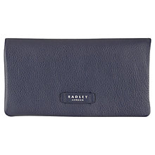 Buy Radley Tetbury Large Leather Matinee Purse, Navy Online at johnlewis.com