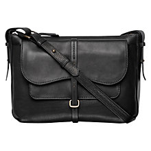 Buy Radley Grosvenor Medium Leather Cross Body Handbag , Black Online at johnlewis.com