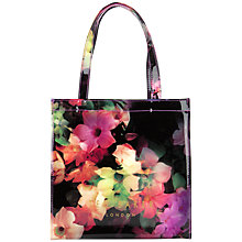Buy Ted Baker Cadecon Floral Icon Shopper Bag, Black Online at johnlewis.com