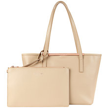 Buy Ted Baker Hailey Leather Crosshatch Shopper Bag Online at johnlewis.com
