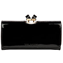 Buy Ted Baker Missti Patent Leather Crystal Frame Matinee Purse Online at johnlewis.com
