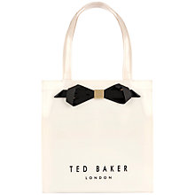 Buy Ted Baker Raycon Small Icon Shopper Bag, Cream Online at johnlewis.com