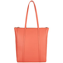 Buy Jaeger Julianne Leather Zip Tote Bag, Coral Online at johnlewis.com