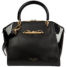 Buy Ted Baker Leather Pailey Bow Tote Bag Online at johnlewis.com