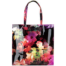 Buy Ted Baker Cascon Large Floral Icon Shopper Bag, Black Online at johnlewis.com