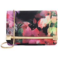 Buy Ted Baker Haily Floral Clutch, Black Online at johnlewis.com