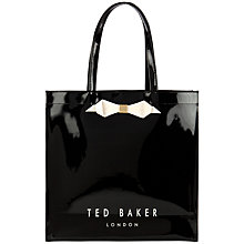 Buy Ted Baker Tedcon Bow Icon Shopper Bag, Black Online at johnlewis.com