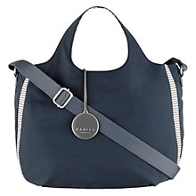 Buy Radley Claremont Hill Medium Zip Top Grab Bag, Navy Online at johnlewis.com