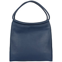 Buy Jaeger Hart Leather Tote Bag, Steel Blue Online at johnlewis.com