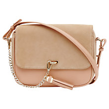 Buy Reiss Laguna Chain Tassel Bag, Apricot Online at johnlewis.com