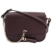 Buy Reiss Laguna Chain Tassel Bag, Bordeaux Online at johnlewis.com