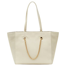 Buy Reiss Cherry Chain Handle Tote Bag, Cream Online at johnlewis.com