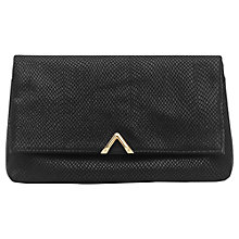 Buy Reiss Blanco Metal Triangle Clutch Bag, Black Online at johnlewis.com