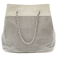 Buy Reiss Harlie Chainmail Bucket Bag, Off White Online at johnlewis.com