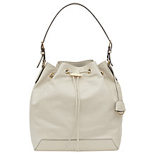 Buy Reiss Navarre Etched Toggle Bucket Bag, Cream Online at johnlewis.com