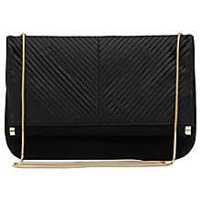 Buy Reiss Ariela Met Pleated Clutch, Black Online at johnlewis.com