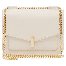 Buy Reiss Elliott Lock Chain Bag, Cream Online at johnlewis.com