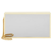 Buy Reiss Portia Mirrored Box Clutch, Silver Online at johnlewis.com