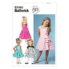 Buy Butterick Gilrs' Formal Dresses Sewing Pattern, 5980 Online at johnlewis.com