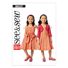 Buy Butterick Children's Dress Sewing Pattern, 6037, A Online at johnlewis.com