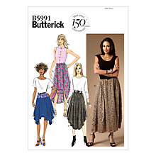 Buy Butterick Women's All-Shape Skirts Sewing Pattern, 5991 Online at johnlewis.com