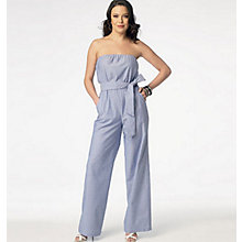 Buy Butterick Women's Jumpsuit Sewing Pattern, 6010, A Online at johnlewis.com