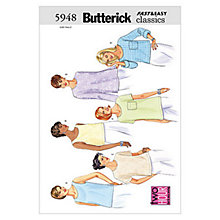 Buy Butterick Women's Top Sewing Pattern, 5948 Online at johnlewis.com