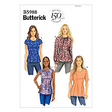 Buy Butterick Women's Perfect Waist & Tuck Top Sewing Pattern, 5988 Online at johnlewis.com
