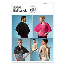 Buy Butterick Women's Shawl Sewing Pattern, 5992 Online at johnlewis.com