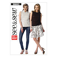 Buy Butterick Women's Top Sewing Pattern, 6043, A Online at johnlewis.com
